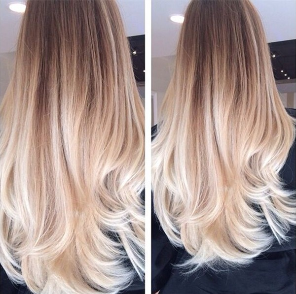 Golden Brown Ombre Hair To Blonde Nice Long Balayage Hairtyle 2015